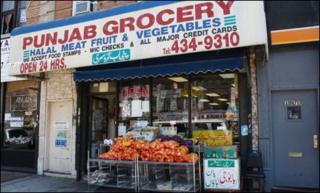 """Shopfront in """"Little Pakistan"""", Brooklyn"""