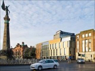 Newcastle University accommodation block