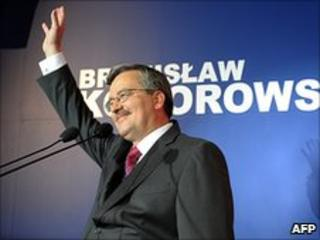 Bronislaw Komorowski, after first round of Polish presidential election
