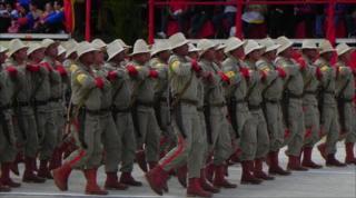 Military show in the Venezuelan capital Caracas