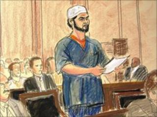 Faisal Shahzad courtroom sketch 21.6.10
