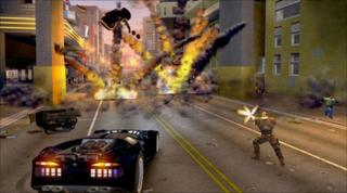 Crackdown screengrab, from Realtime Worlds