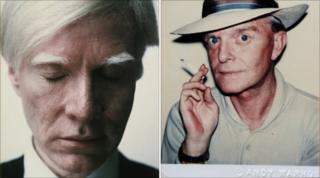 Andy Warhol's Self Portrait (Eyes Closed) and Truman Capote