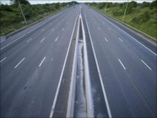 An empty road during England v USA match