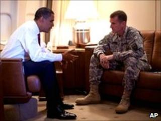 President Obama and Gen McChrystal. Photo: October 2009