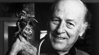 Ray Harryhausen with Medusa