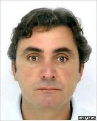 A handout photo released by the Italian police on June 25, 2010 shows Mafia boss Giuseppe Falsone