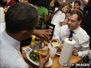US President Barack Obama and Russian President Dmitry Medvedev