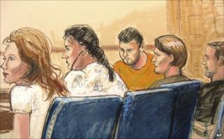 Russian spy suspects in Manhattan federal court, 28 June