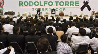 Funeral of murdered candidate Rodolfo Torre Cantu