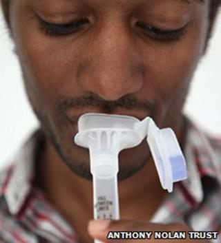 Spit test for bone marrow register list