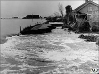 Flooding in Holland in 1953