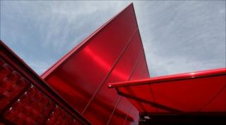 A general view of the 10th Serpentine Gallery Pavilion designed by Jean Nouvel