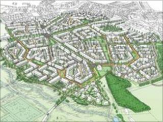 Artist's impression of new development