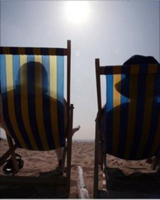 Sunbathers. Pic Matt Cardy/Getty Images