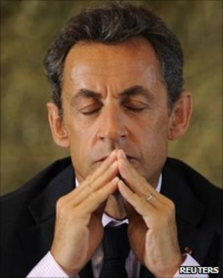 President Nicolas Sarkozy on July 1, 2010