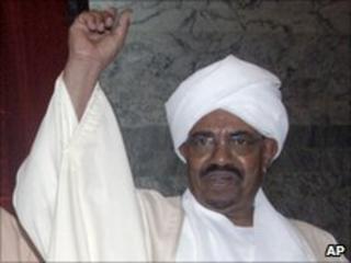 President Omar al-Bashir at the parliament in Khartoum in May 2010