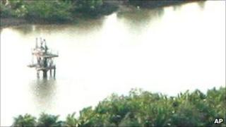 Oil well head near Port Harcourt, Nigeria