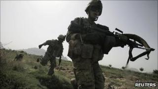 US troops north of Kandahar (file image)