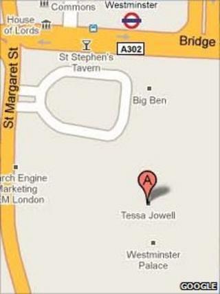 Google Map, courtesy of Google
