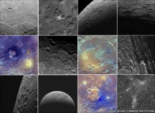 Images of Mercury captured by Nasa's Messenger spacecraft (Image: NASA/JHU Applied Physics Laboratory/Carnegie Institution)