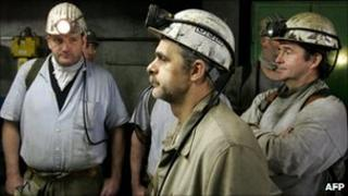 Coal miners in Saarwellingen, Germany - file photo
