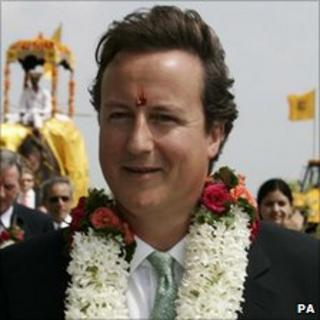 David Cameron in India in 2006