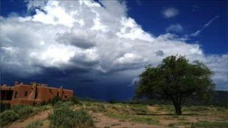 A rurual view of New Mexico