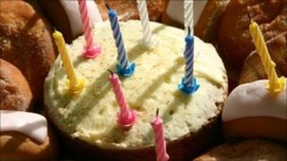 Birthday cake, file image