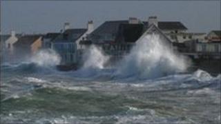 Waves at Cobo Bay, Guernsey