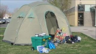 ShelterBox tent and equipment