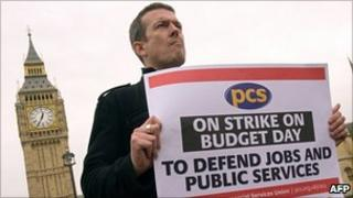 A PCS union member on strike