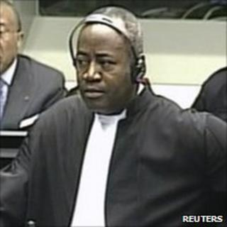 Courtenay Griffiths at Charles Taylor's war-crimes trial (August 10, 2010)