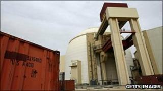 File photograph of the reactor of Bushehr nuclear power plant in Iran