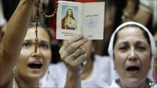 Lebanese Christian protest over the broadcast of the TV show (13 August 2010)