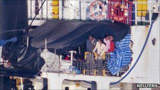 Migrants on the MV Sun Sea