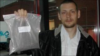 Paul Jones, with his bag of bangers