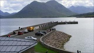 New pier at Raasay. Pic: Iain MacDonald/BBC