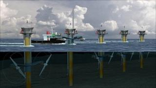 Artist's impression of tidal energy project