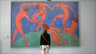 The original Dance by Henri Matisse on the wall in the State Hermitage Museum, St Petersburg.