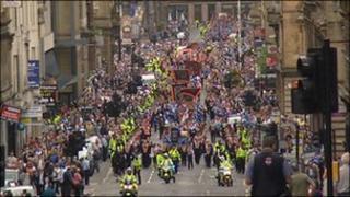 Orange parade in Glasgow