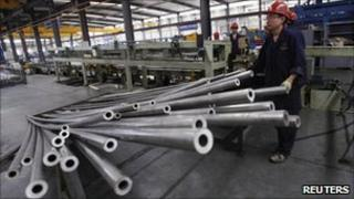 Aluminium production at a factory in Xining, China