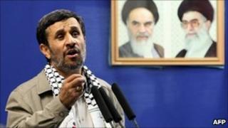 Mahmoud Ahmadinejad at Tehran University 3 September