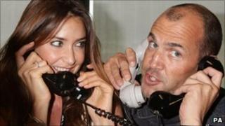 Capital Radio DJs Lisa Snowdon and Johnny Vaughan