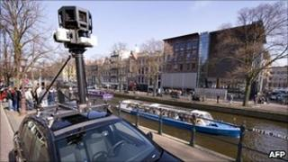 Google Street View car in the Netherlands