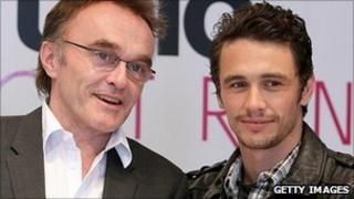 Danny Boyle and actor James Franco