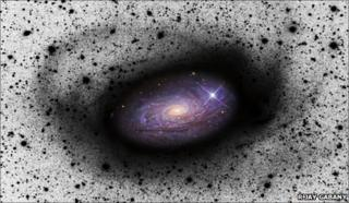 Spiral galaxy eating a dwarf galaxy - D Martínez-Delgado (MPIA)