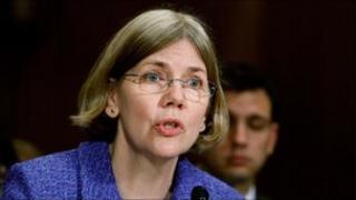 Harvard law professor Elizabeth Warren