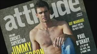 Cricket star Jimmy Anderson goes nude for gay magazine