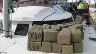 Cannabis on board the catamaran